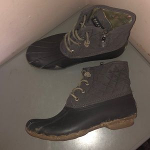 Sperry Top sider salt water boots rain rubber 8